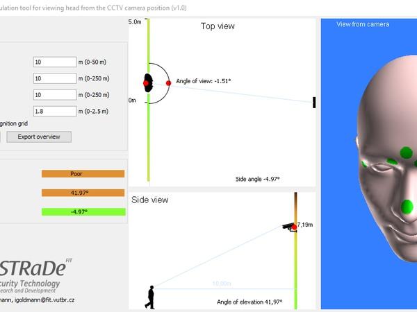 Simulace snímání obličeje
